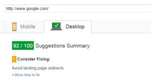 PageSpeed Insights Desktop Google