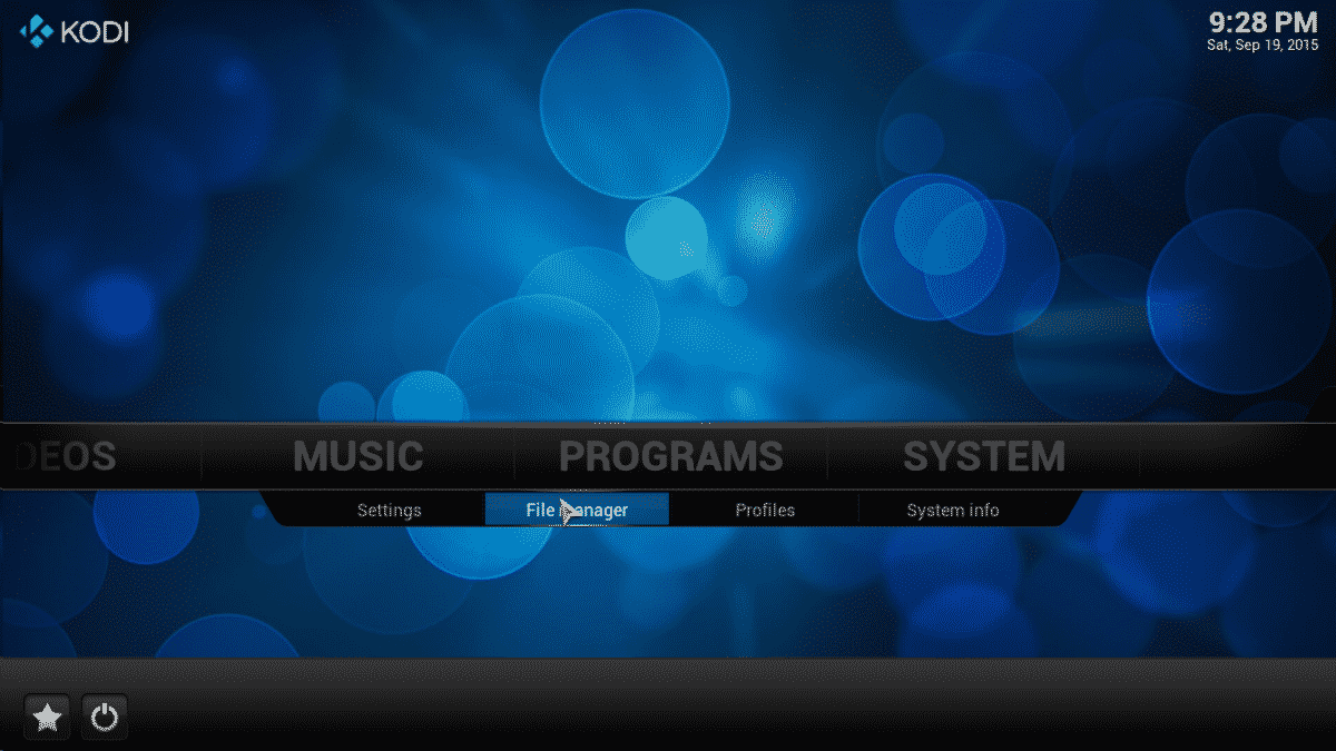 kodi system file manager