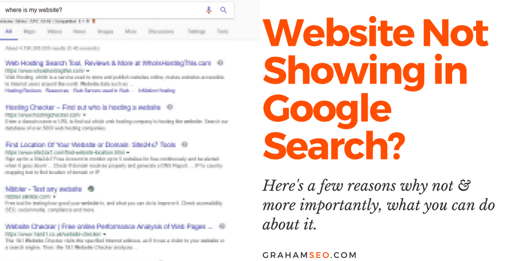 Website not showing in Google search