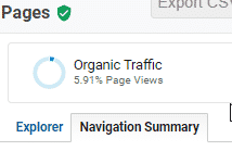 To see the previous and next pages for page views in Google Analytics select the Navigation Summary